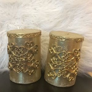 Other - Gold Vintage candles set